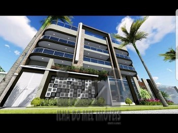 Apartamentos garden frente mar na planta