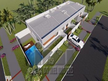 Casa com 3 quartos 1 suite com piscina