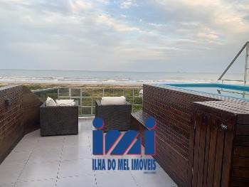 Cobertura 2 quartos com piscina frente mar Grajaú