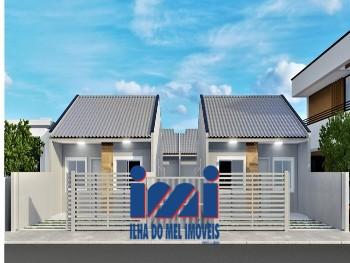 Casas novas com 2 quartos faixa mar financie!