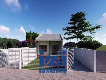 Casa com dois dormitórios no Cohapar